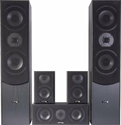 Audio System Speaker Pack 180W 5.1 Black Speakers Home Theater