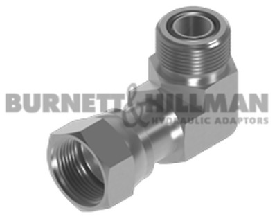Burnett & Hillman ORFS Male x ORFS Swivel Female 90° Forged Compact Elbow