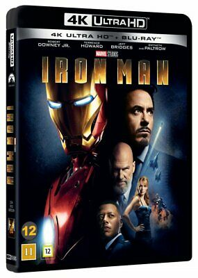 Iron Man Marvel 4K Ultra Hd+Blu-Ray New/Sealed Dolby Atmos 7.1 Robert Downey Jr