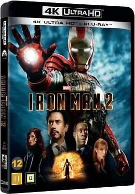 Iron Man 2 Marvel 4K Uhd+Blu-Ray New & Sealed Dolby Atmos 7.1 Robert Downey Jr