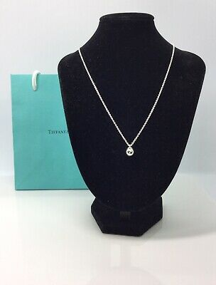 Tiffany & Co. Sterling silver-8mm Hardwear Ball Pendant Necklace 16-18""