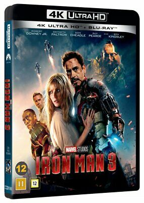 Iron Man 3 Marvel 4K Uhd+Blu-Ray New/Sealed Dolby Atmos 7.1 Robert Downey Jr