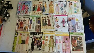 Large Lot of Vintage/Modern Sewing Patterns McCall Simplicity Burda Butterick 50
