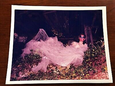 Creepy Photograph, Scary Photograph, Lady in Wedding Gown, Mask/Tree 11x14