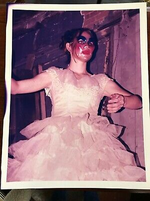 Creepy Photograph, Scary Photograph, Lady in Wedding Gown and Mask 11x14