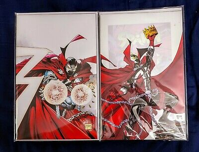 SPAWN #300 and #301 1:25 INCENTIVE TODD MCFARLANE CAPULLO VARIANT NM
