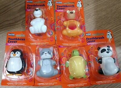 36 pack of DENTEX kids  animals toothbrush covers