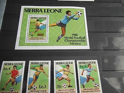 Sierra Leone world cup stamps and M/S Mexico 86