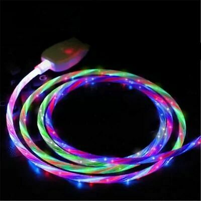 LED Flowing Light Up Lightning/TypeC/Micro USB Charging Cable For IPhone Android