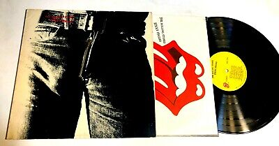 Sticky Fingers by The Rolling Stones LP Zipper Cover EX Andy Warhol design