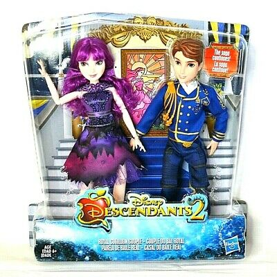 Disney's Descendants 2 Royal Cotillion Couple Dolls Two Pack Figure Doll New