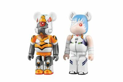 BE@RBRICK Bearbrick EVANGELION:1.0 YOU ARE (NOT) ALONE Rei ABS PVC Figure Japan