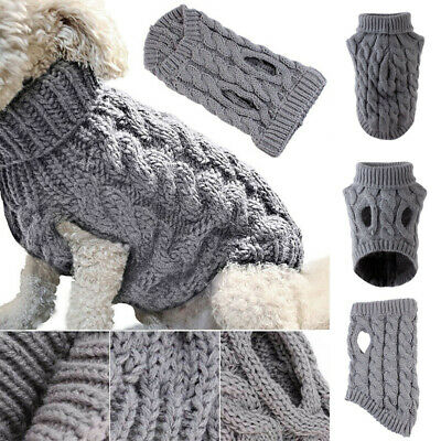 Fashion Knitted Puppy Dog Jumper Sweater Pet Clothes For Small Dogs Cat Coat New