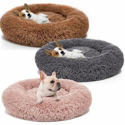 Pet Dog Cat Calming Bed Round Nest Warm Soft Plush Sleeping Bag Comfy Flufy New