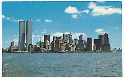Aerial View of Lower Manhattan, Twin Towers World Trade Center, New York City