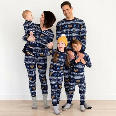 Hot Family Matching Adult Kids Christmas Pyjamas Xmas Nightwear Pajamas PJs Sets