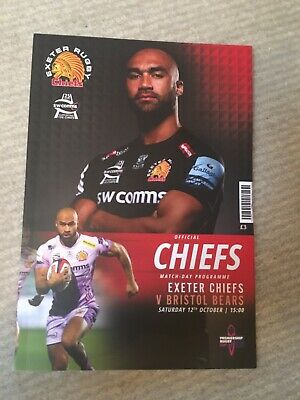 Exeter Chiefs V Bristol  12/10/19  Premiership Rugby Cup  Matchday  Programme