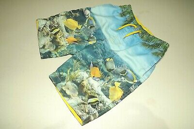 Rebel ~ Boys Under The Sea Fish Theme Swim Beach Holiday Shorts ~ Age 6 - 7 Yrs