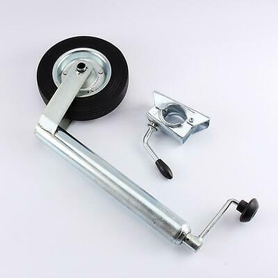 Jockey Wheel 48mm 150kg 200mm Wheel 48mm Heavy Duty Cast Clamp for Trailer