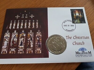 1998 CHRISTIAN CHURH ISLE of MAN 1 CROWN BRILLIANT UNCIRCULATED PNC / FDC
