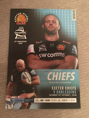 Exeter Chiefs V Harlequins   19/10/19  Premiership Rugby  Matchday  Programme