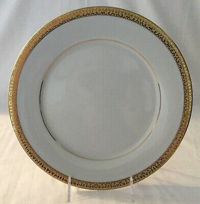 Set of 4 Royal Gallery Gold Buffet Dinner Plates