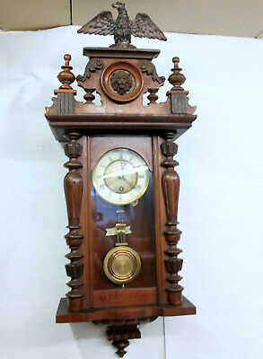 Antique Wall Clock Regulator Clock 19th century *JUNGHANS *