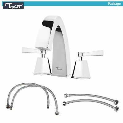 TAPCET Chrome Polished Bathroom Sink Faucet Bath Hot & Cold Mixer Tap Luxury