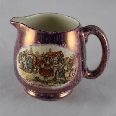 Antique Lancasters Ltd Hanley Purple English Ware Mini Jug Milk Pitcher England
