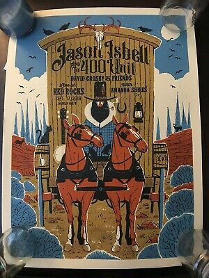 Jason Isbell Poster Red Rocks 9-17-19 Amanda Shires David Crosby