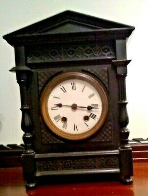 STUNNING Lenzkirch Striking Ebonised Bracket Clock! G.W.O.