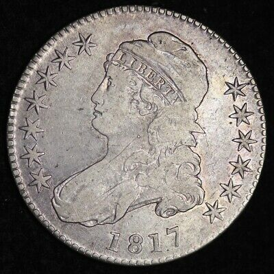 1817 Capped Bust Half Dollar CHOICE VF+ FREE SHIPPING E348 KCNM