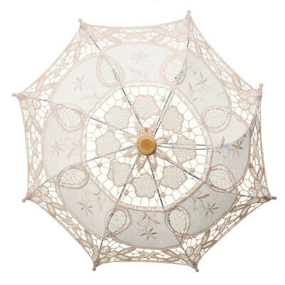 Party Bridal Wedding Kid Flower Girl Lace Embroidered Umbrella Elegance Parasol