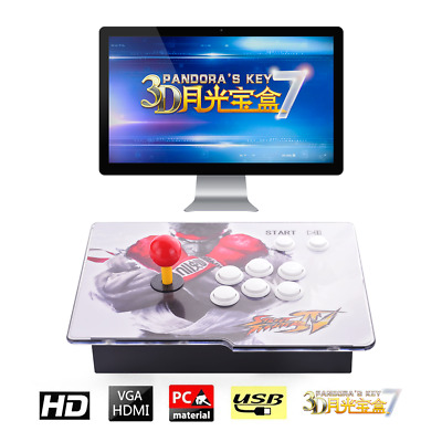 3D Pandora's Box Key 7 Retro Arcade Game Console 2413 Games Up to 4 Players