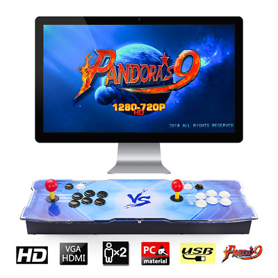 New 3A Pandora's Box 9 Arcade Console 2 Players 1500 Retro Games Arcade Machine