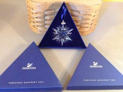 NEW!! 2002 Limited Edition Annual Swarovski Crystal Snowflake Christmas Holiday
