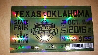 2016 OKLAHOMA SOONERS VS texas FOOTBALL TICKET STUB