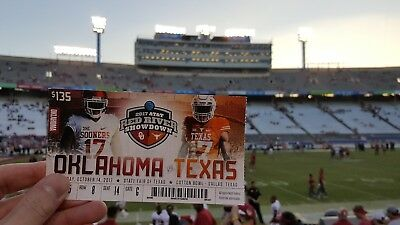 2017 OKLAHOMA SOONERS VS texas FOOTBALL TICKET STUB