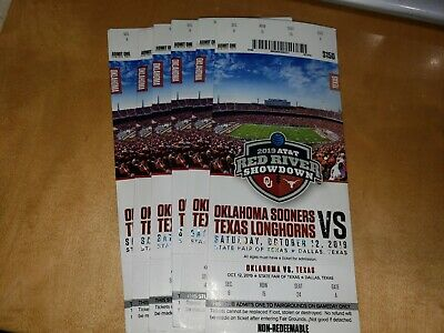 2019 OKLAHOMA SOONERS VS texas FOOTBALL TICKET STUB