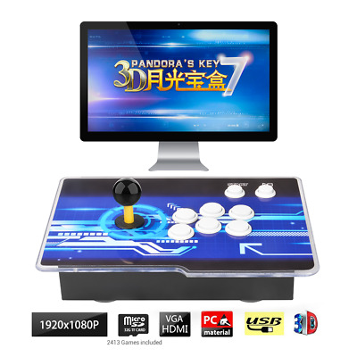 Pandora's Box Key 7 3D 2D Retro Arcade Game Console 2413 Games Up to 4 Players