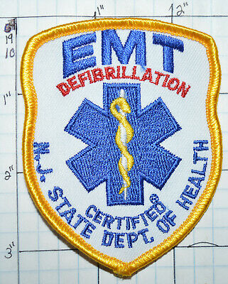 """NEW JERSEY STATE CERTIFIED MICU PARAMEDIC Highly Reflective 1 3//4/"""" x 2/""""  Decal"""