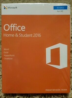 Microsoft Office Home & Student 2016 Full Version for Windows Product Key NoDisc