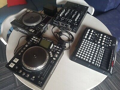 Mixers 4 piece set Pioneer, Denon, AKAI Professional. Second hand