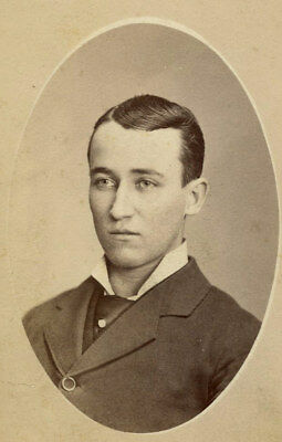 Memorial Antique CDV Photo YOUNG MAN FASHION by SNYDER BLOOMSBURG