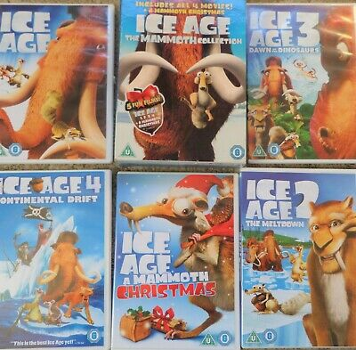 Ice Age 1-4 plus Mammoth Christmas: The Mammoth Collection-5 dvd box set- kids