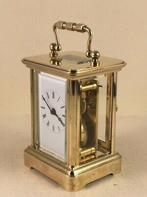 Exquisite Miniature Swiss  Carriage Clock & Keys. Very Recent Full Service.