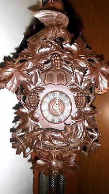 xl original  museum cuckoo clock, 2 windows two cuckoo 3 weight