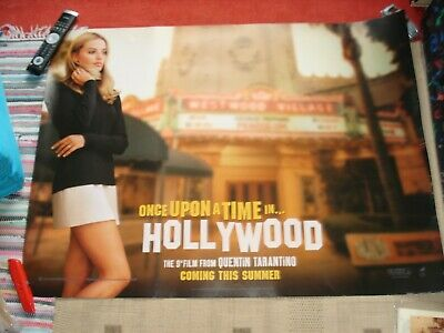 2 X Orig 1St Rel Dbl Side Uk Quads-Once Upon A Time In Hollywood-Tarantino-Tate
