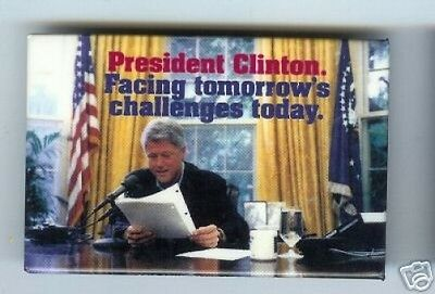 1996 CLINTON pin FACING Tomorrow's CHALLENGES Today