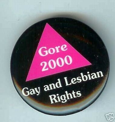 2000 Al GORE pin GAY and LESBIAN Rights